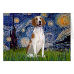 Starry Night - American Foxhound Card