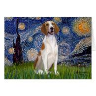 Starry Night - American Foxhound Card