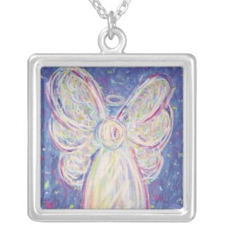 Starry Night Angel Art Custom Pendant Necklace