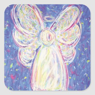 Starry Night Angel Art Decal Stickers