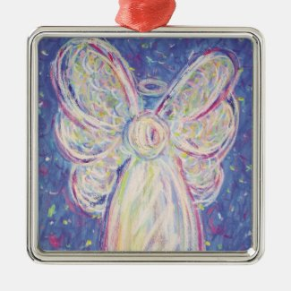 Starry Night Angel Art Holiday Gift Ornaments