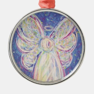Starry Night Angel Art Holiday Ornament