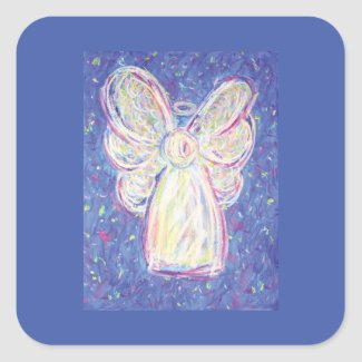 Starry Night Angel Art Sticker Decals
