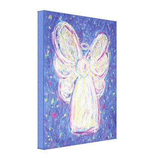 Starry Night Angel Art Wrapped Canvas Painting