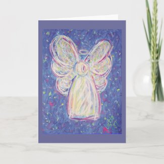 Starry Night Angel Card