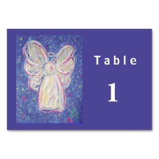 Starry Night Angel Custom Table Cards