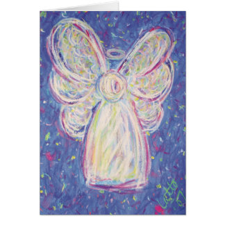 Starry Night Angel Friendship Card