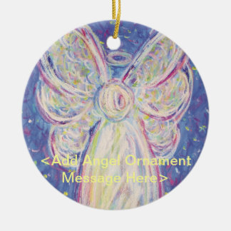 Starry Night Angel Holiday Custom Gift Ornaments