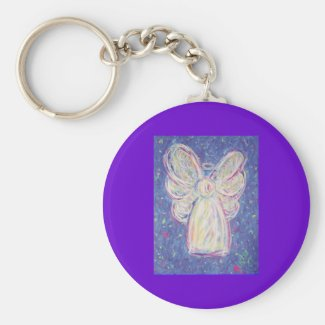 Starry Night Angel Keychain