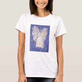Starry Night Angel Ladies Baby Doll T T-Shirt