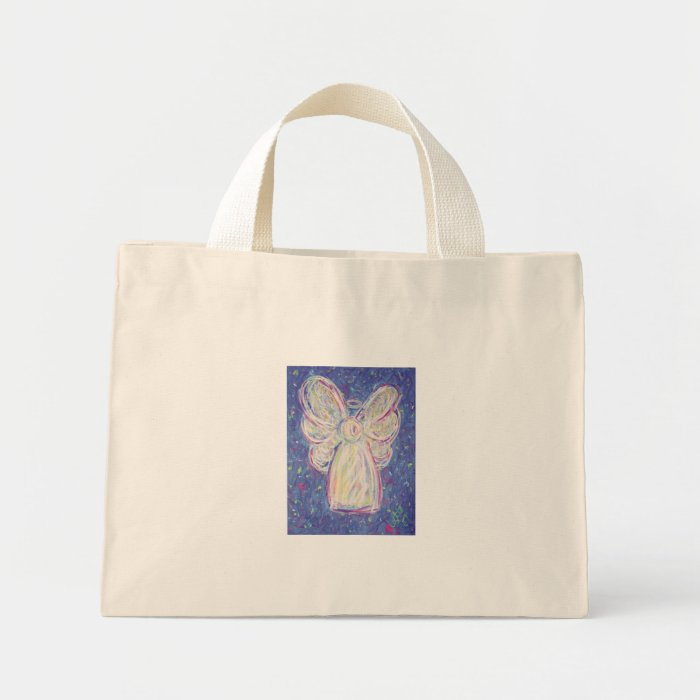 Starry Night Angel Mini Tote Bag