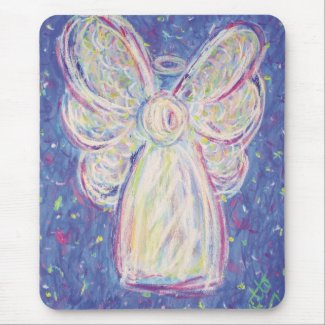 Starry Night Angel Mouse Pad
