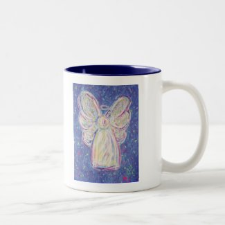 Starry Night Angel Two-Tone Coffee Mug