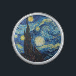 """Starry Night Art Bluetooth Speaker<br><div class=""""desc"""">Van Gogh&#39;s gorgeous painting The Starry Night in blue and yellow with stars and swirls,  makes a beautiful and sophisticated music speaker. Matching items are available in my Zazzle store.</div>"""
