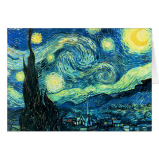 Starry Night art Greeting Card