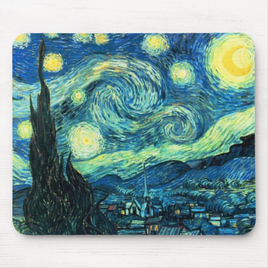 Starry Night art Mouse Pad