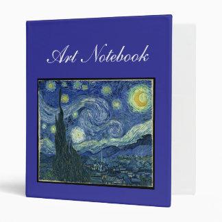 Starry Night Art Notebook Binder