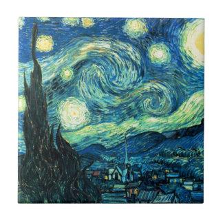 Starry Night art Tile