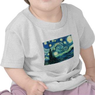 Starry Night art Tee Shirts