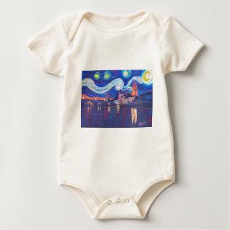 Starry night at Regensburg Baby Bodysuit