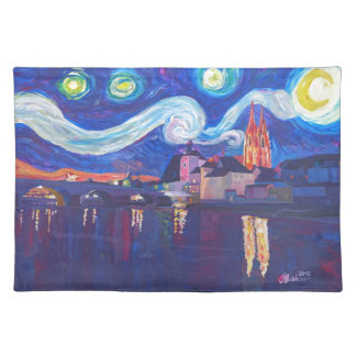 Starry night at Regensburg Cloth Placemat