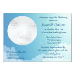 Starry Night Baby Christening Invitation