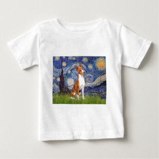 Starry Night - Basenji Baby T-Shirt