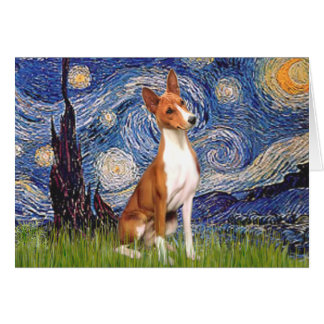 Starry Night - Basenji Card