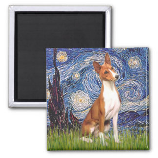 Starry Night - Basenji Magnet