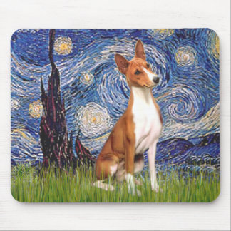 Starry Night - Basenji Mouse Pad