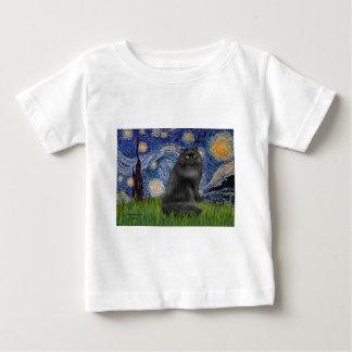 Starry Night - Black Persian cat Baby T-Shirt
