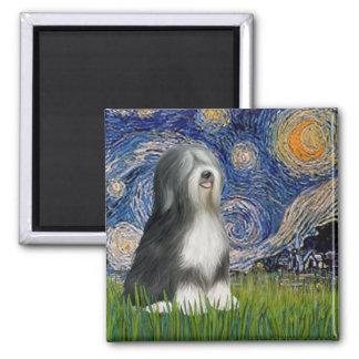 Starry Night - Black & White Tibetan Terrier Magnet