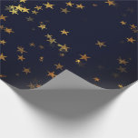 "Starry Night Blue Navy Forest Gold Confetti Wrapping Paper<br><div class=""desc"">florenceK design 