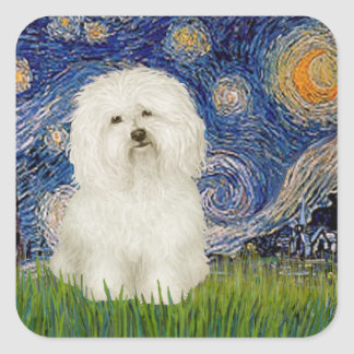 Starry Night - Bolognese 1 Square Sticker