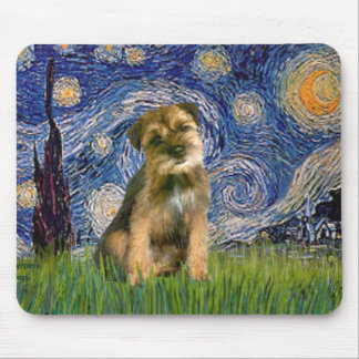 Starry Night - Border Terrier #1 Mouse Pad