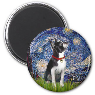 Starry Night - Boston T (2rc) 2 Inch Round Magnet