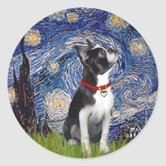 Starry Night - Boston T (2rc) Classic Round Sticker