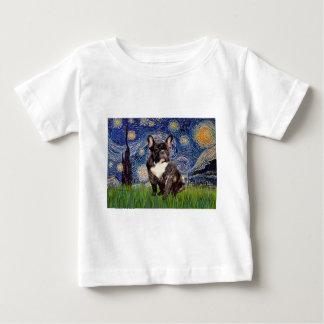 Starry Night - Brindle French Bulldog Baby T-Shirt