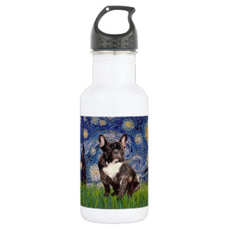 Starry Night - Brindle French Bulldog 18oz Water Bottle