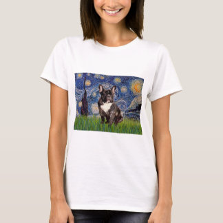 Starry Night - Brindle French Bulldog T-Shirt