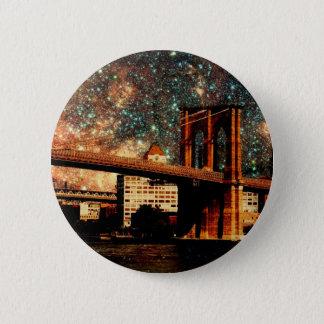 Starry Night Brooklyn Bridge Button