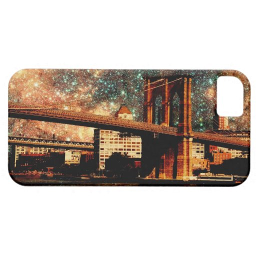 Starry Night Brooklyn Bridge iPhone 5 Cases