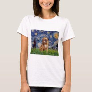 Starry Night - Brown Brussels Griffon T-Shirt