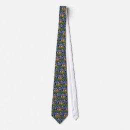 Starry Night - Brown Brussels Griffon Tie