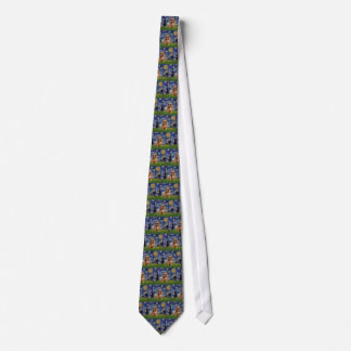 Starry Night - Brown Brussels Griffon Tie