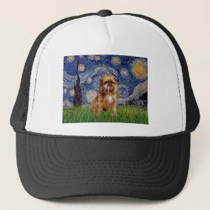 Starry Night - Brown Brussels Griffon Trucker Hat