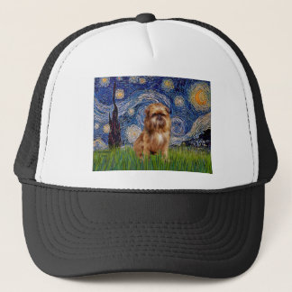 Starry Night - Brown Brussels Griffon Trucker Hat