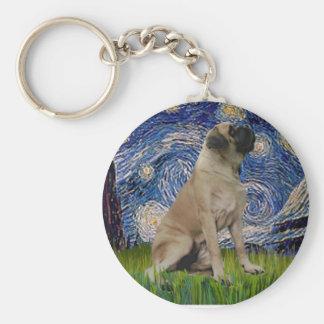 Starry Night - Bull Mastiff #1 Keychain