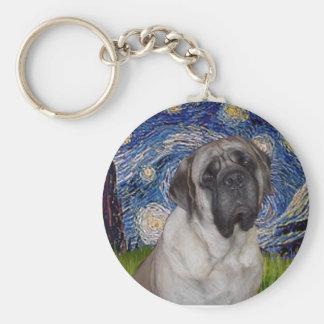 Starry Night - Bull Mastiff Portrait Keychain