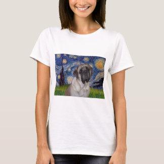 Starry Night - Bull Mastiff Portrait T-Shirt
